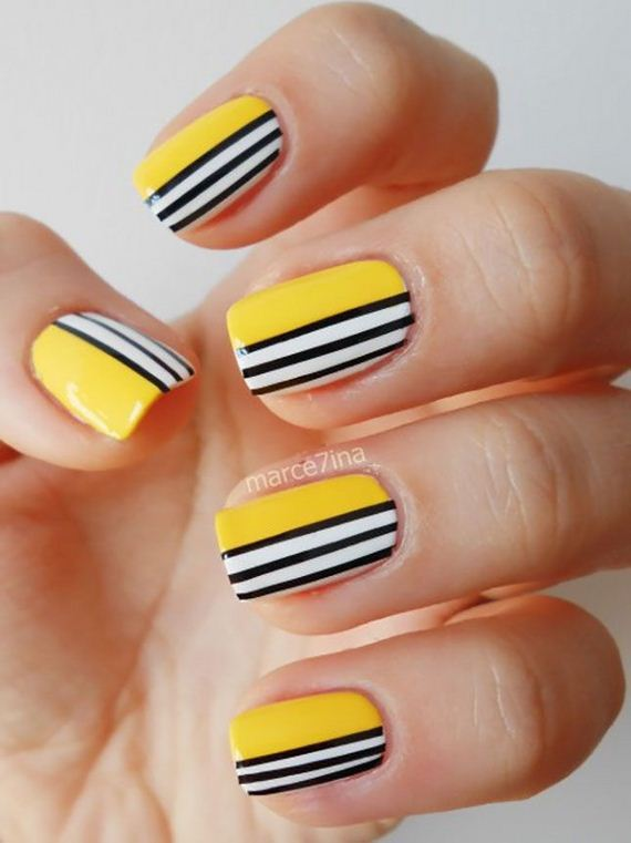 Awesome Striped Nail Designs Diycraftsguru