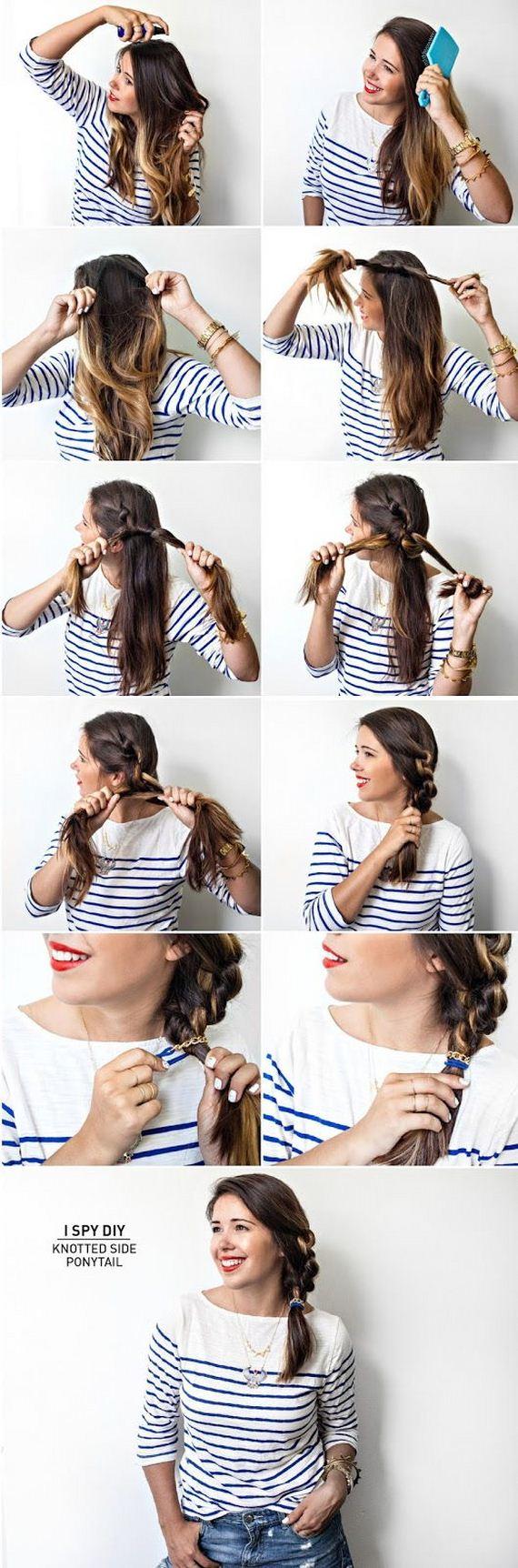 Прическа волосы на бок шаг за шагом