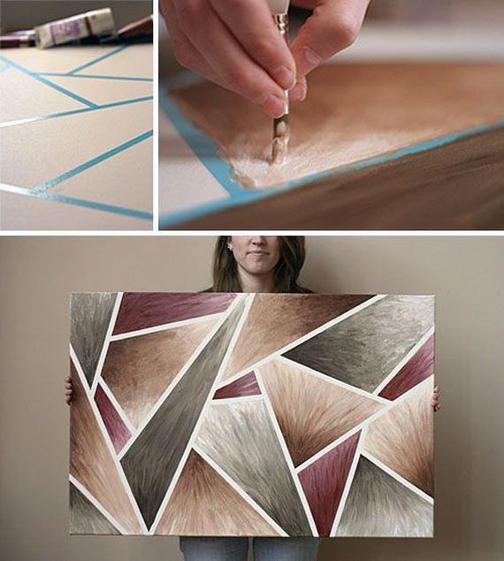 24 DIY Canvas Wall Hangings Part 87