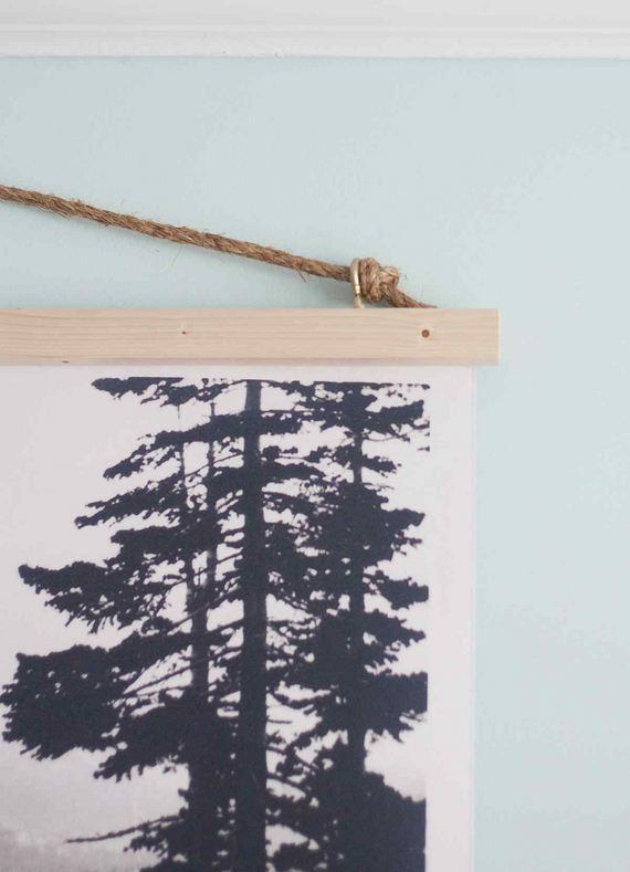 17-DIY-Poster-Frame