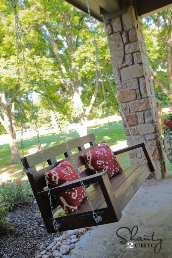 Cool diy pallet furniture ideas diycraftsguru for Diy porch swing