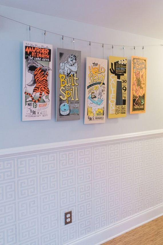 21-DIY-Poster-Frame