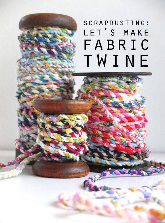 34-Fabric-Scrap-Rosette-Pillow
