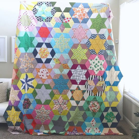 44-Fabric-Scrap-Rosette-Pillow