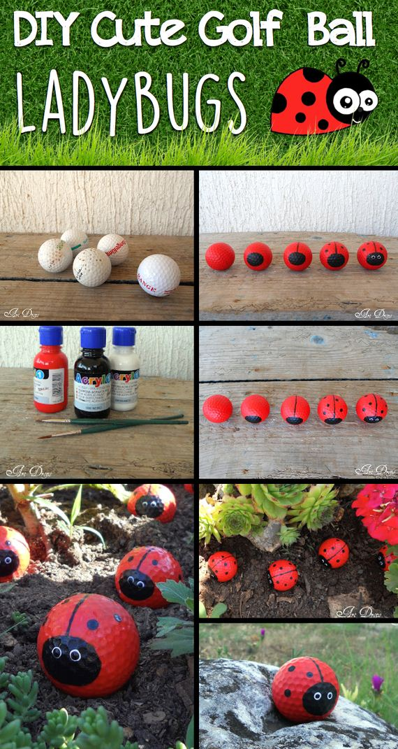 01-DIY-Cute-Golf-Ball-Ladybugs