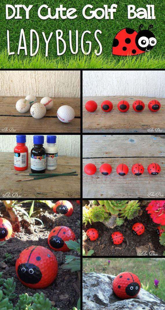 01-DIY-Cute-Golf-Ball-Ladybugs