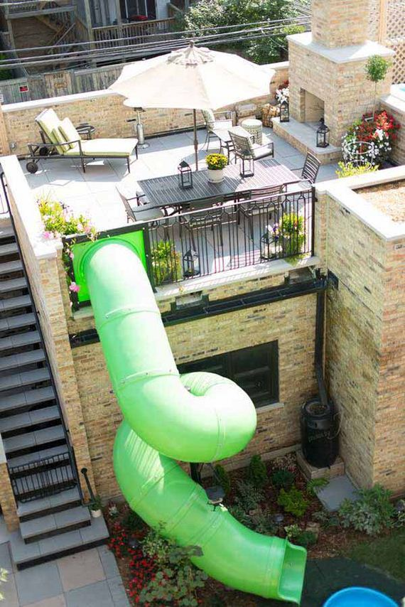 Amazing outdoor dining spaces diycraftsguru - Houses garage deck rooftop party ...