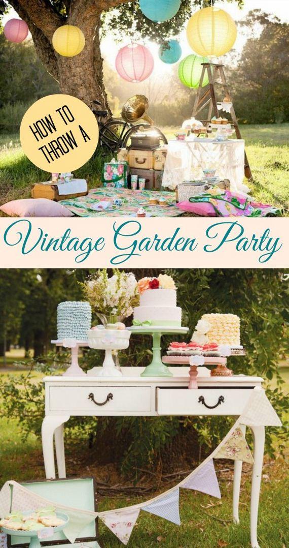 how to throw a vintage garden party