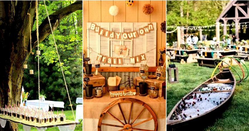 Awesome Outdoor Wedding Bar Ideas