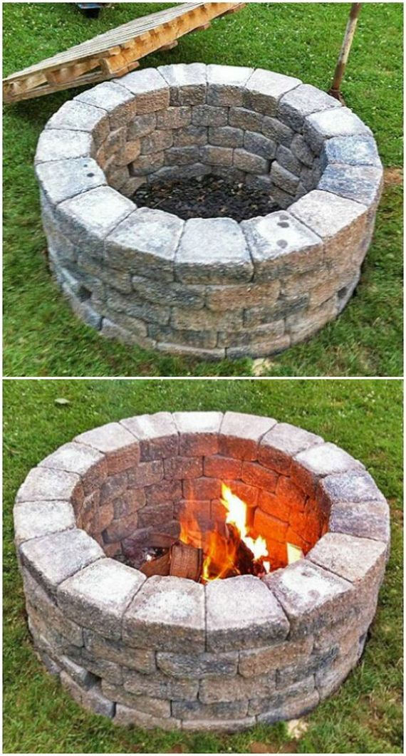 Diy Natural Stone Fire Pit