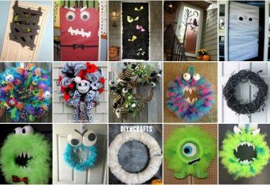 halloween-monster-doors-wreaths