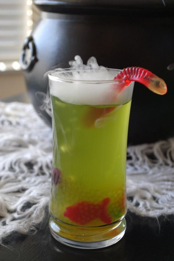 32. Glowing Severed-Hand Halloween Punch