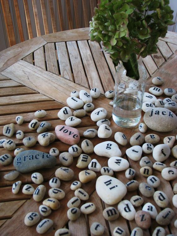 diy crafts made from rocks pebbles and stones