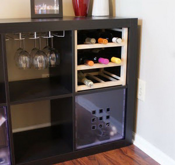 Awesome diy ikea kallax shelves hacks diycraftsguru for Wine shelves ikea