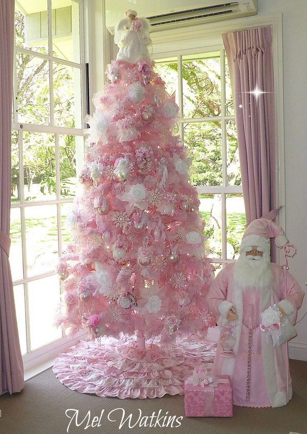 17 christmas tree decoration ideas - Pink Christmas Trees
