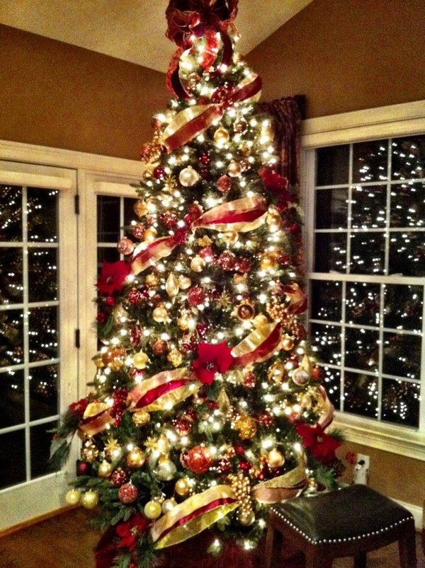 2 christmas tree decoration ideas