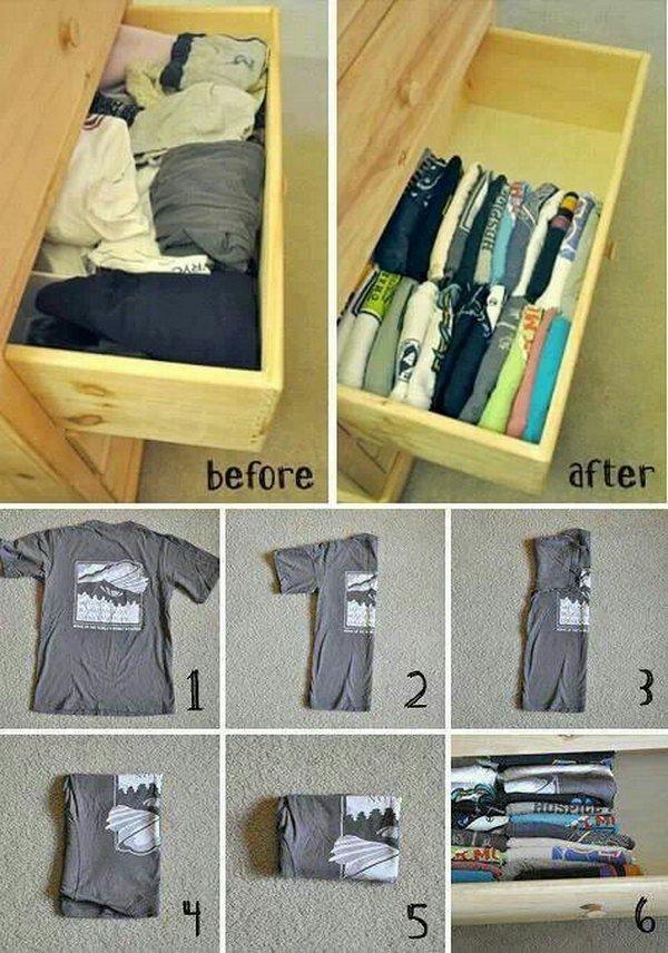 Attractive T Shirt Drawer Organization. 31 Closet Storage Organization Ideas