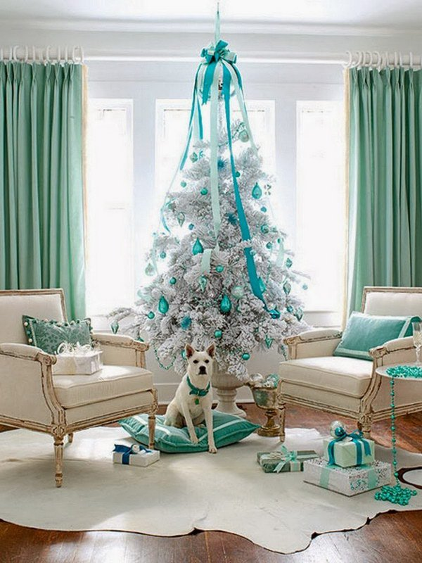 Turquoise Christmas Tree.Awesome Christmas Tree Decoration Projects Diycraftsguru
