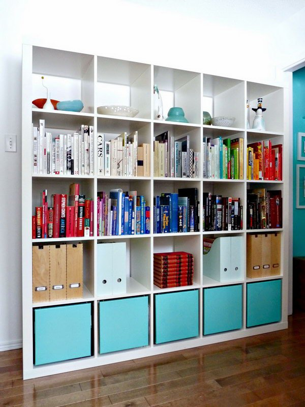 awesome diy ikea kallax shelves hacks diycraftsguru. Black Bedroom Furniture Sets. Home Design Ideas