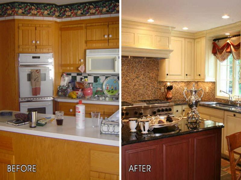 Kitchen Makeovers On A Budget Before And After cheap kitchen makeover projects - diycraftsguru