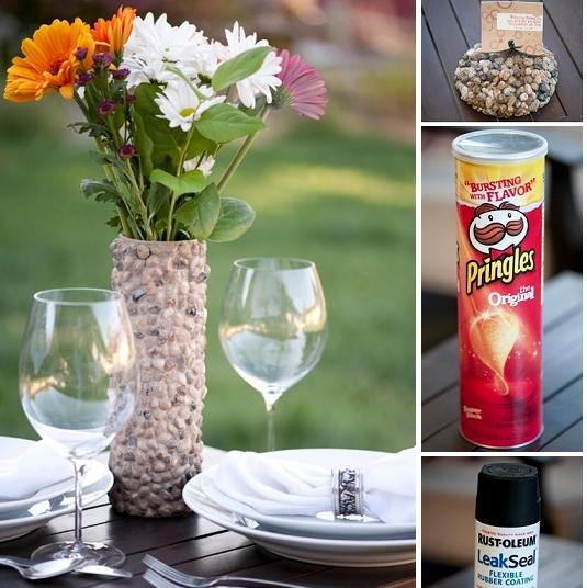 pebble-pringles-flower-vase