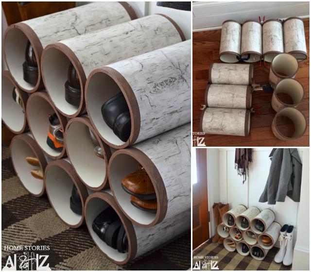 diy pvc pipe shoe rack tutorial diycraftsguru. Black Bedroom Furniture Sets. Home Design Ideas