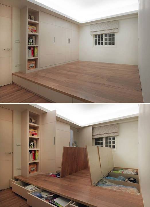Attrayant Raised Floor Storage Ideas