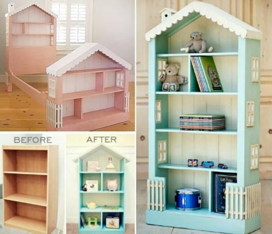 Diy dollhouse bookcase diycraftsguru for Simple bookshelf designs for home