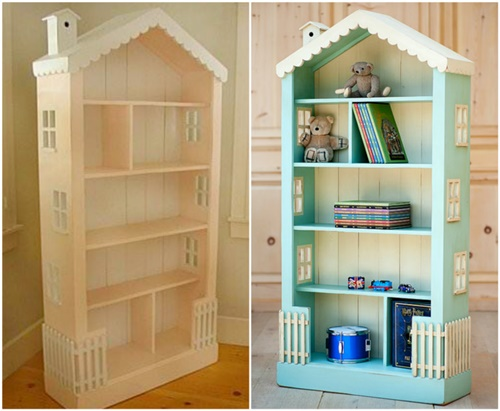 DIY DollHouse Bookcase DIYCraftsGuru
