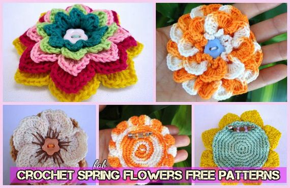 Awesome 3d Crochet Spring Flower Free Patterns Diycraftsguru