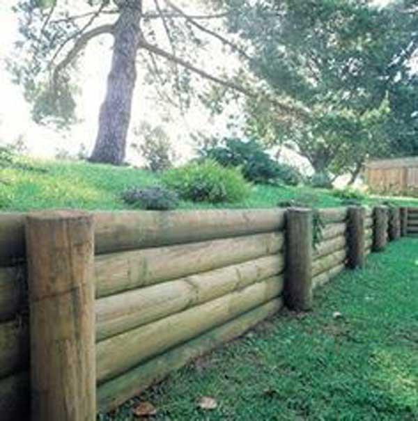 Wood Retaining Wall Ideas: DIY Retaining Wall