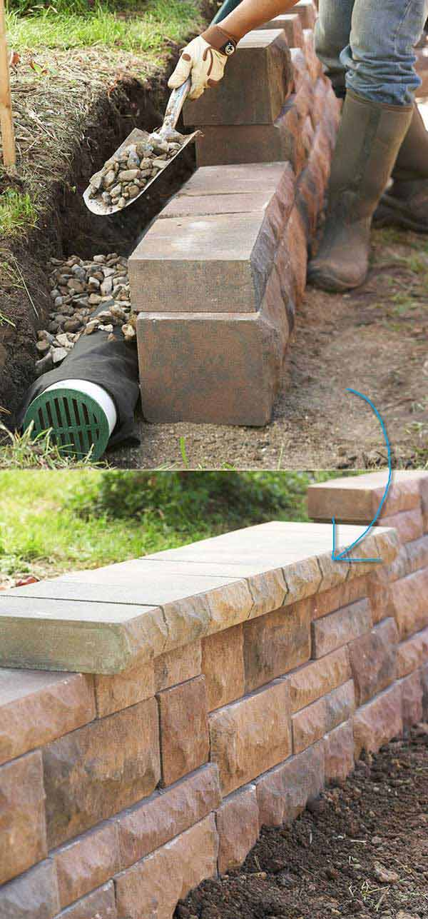 How To Build A Drainage System Behind A Retaining Wall