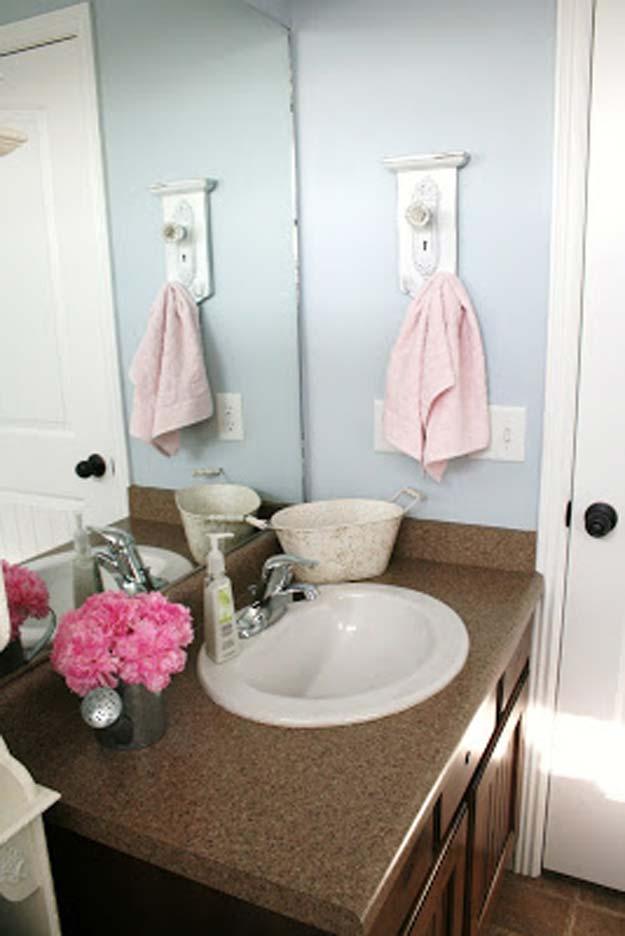 diy towel hanger - Bathroom Accessories Diy