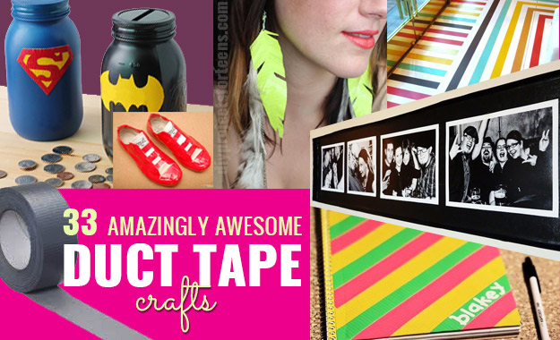 Amazing duct tape projects diycraftsguru for Super easy duct tape crafts