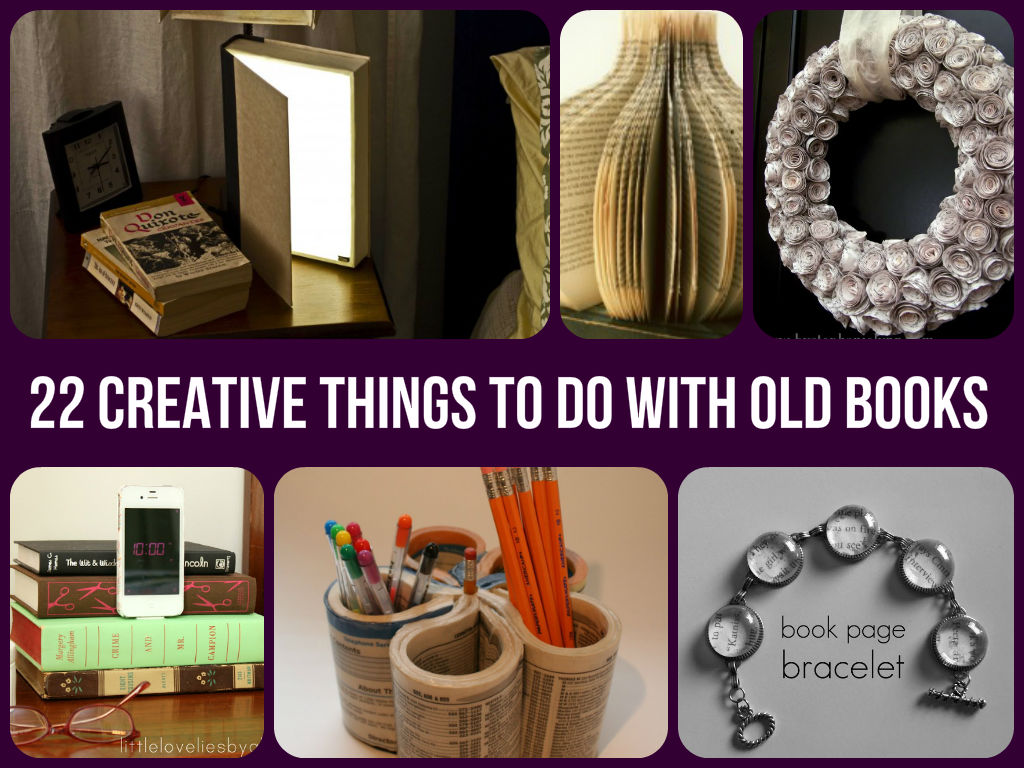 Cool things to do with old books diycraftsguru for Cool creative things