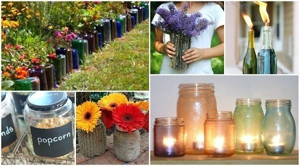 How To Turn Old Glass Bottles U0026 Jars Into Gorgeous Home Decor