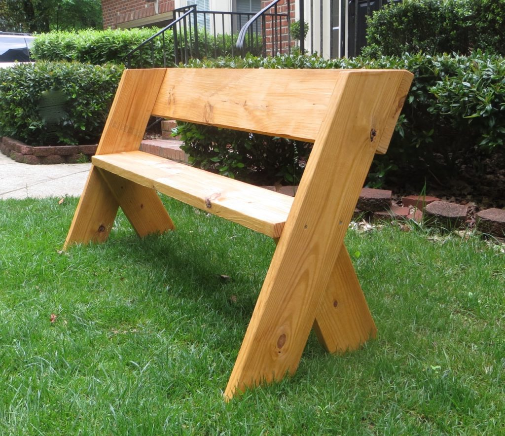 Simple 16 Wooden Bench