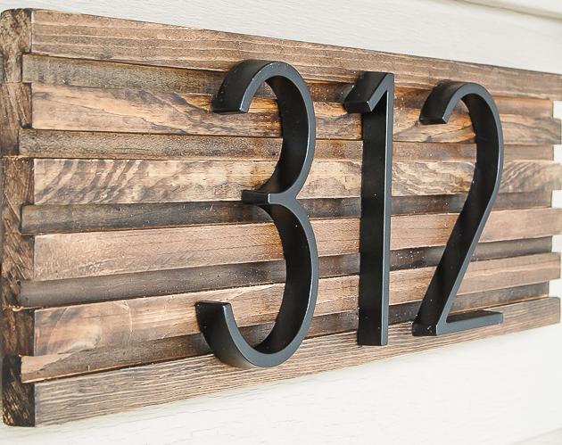 Cool Diy House Number Signs Diycraftsguru