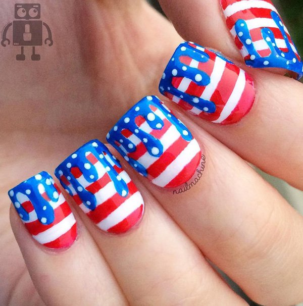 Amazing July 4th Nail Art Designs - DIYCraftsGuru