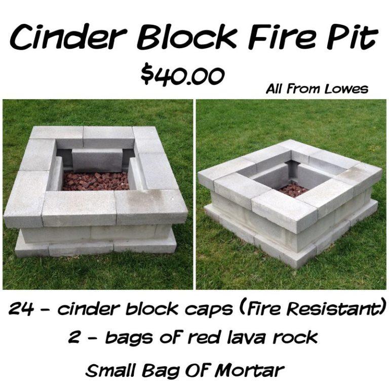 14 Cool Diy Cinder Block Fire Pits