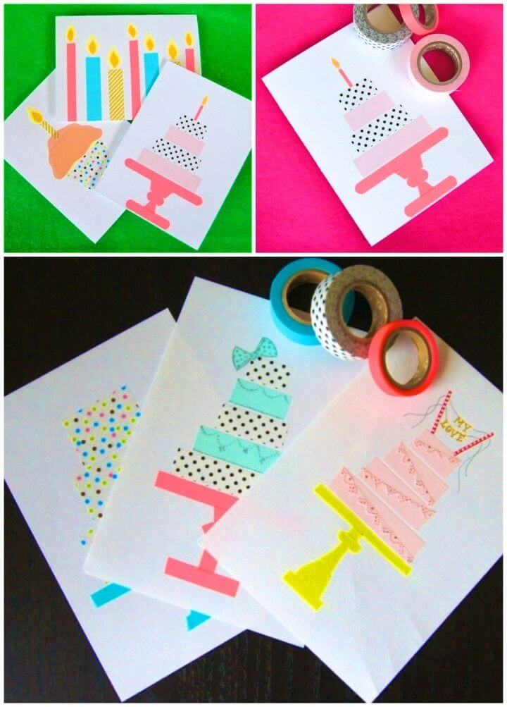 Pleasing 18 Diy Birthday Card Ideas Diycraftsguru Personalised Birthday Cards Veneteletsinfo